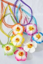 24 Hawaiian Hibiscus Fashion Necklaces Costume Jewelry Wholesale Lot - 7 Colors