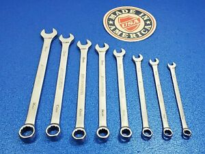 VINTAGE ARMSTRONG LONG METRIC COMBINATION WRENCH LOT 7MM TO 14MM 8pc TOOL SET