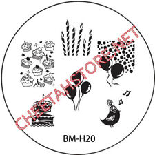 Stamping plaque Bundle Monster BMH20 pour vernis ongles