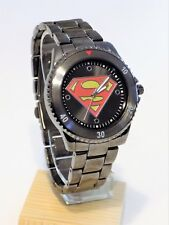New Men's Superman Gunmetal Man Of Steel DC Comics Hero Sport Watch Wristwatch