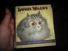 RARE 1930'S LOUIS WAIN'S GREAT BIG MIDGET BOOK  RSPCA KING GEORGE V INSERT