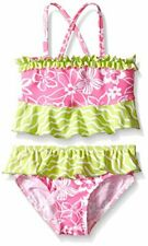 Flap Happy Girls UPF 50+ Hana Crossback 2 Piece Swimsuit Hula Hibiscus Size 2