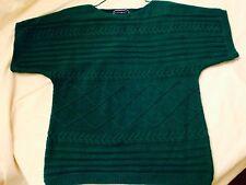 New Karen Scott Women's Decorative Knit Green Boat Collar Style Sweater Size Sm
