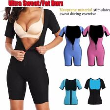 Neoprene Sauna Suit Full Body Shaper Ultra Sweat Weight Loss Yoga Jumpsuit Yoga