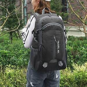 40L Anti-theft Unisex USB Charger Port Backpack Laptop Notebook Travel Bag UK