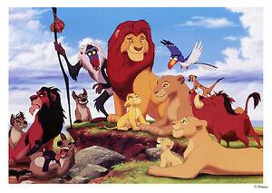 "Rare Vintage Unused Walt Disney ""Lion King"" Fan Postcard Photo 5 x 7 Card"