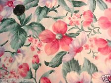"""5 yds 48"""" Dogwood Floral soft Pastel polished cotton apparel curtains sewing--*"""