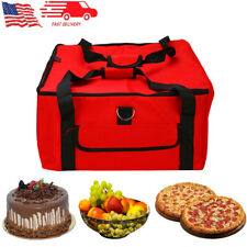 16in Pizza Delivery Bag Portable Insulated Thermal Food Cake Pie Storage Holder