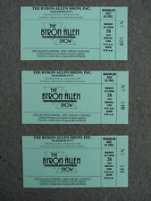 THE BYRON ALLEN SHOW 3 Original 1992 Tickets TALK SHOW HOLLYWOOD CA
