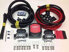 24v 3mtr Split Carga relé Kit 140 A Voltaje sentido Durite Relay + 110amp Cable