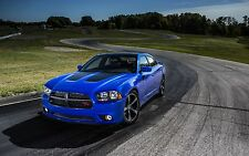 2013 DODGE CHARGER DAYTONA POSTER 24 x 36 INCH POSTER, BLUE