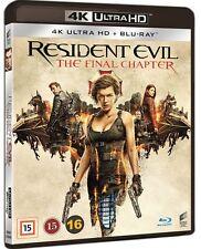Resident Evil Final Chapter 4K UHD + Blu Ray (Region Free)