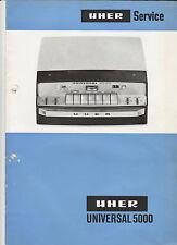 "UHER "" Universal 5000 "" / Origl.Service-Handbuch / service manual / Schaltplan"