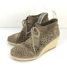 a5c10eb57f5 ... Lace up Ankle Bootie 9 40 New.  89.95.  9.95 shipping. Toms 6.5 Brown  Suede Laser Cut Bootie Perforated Espadrille wedge desert chukka