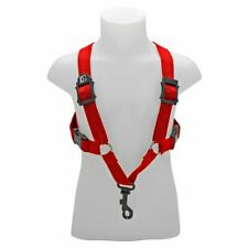 More details for bg alto & tenor sax small comfort harness ~ red ~ snap hook