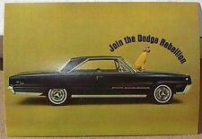 1966 66 DODGE MONACO 500 2DR DEALER REBELLION GIRL BOYS PROMO POSTCARD MOPAR