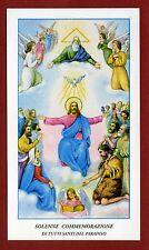 SANTINO SOLENNE COMMEMORAZIONE di Tutti i Santi in Paradiso - HOLY CARD