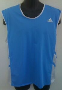 adidas Men's Retro Lightweight Nylon Running Track Team Jersey Singlet Tank Top