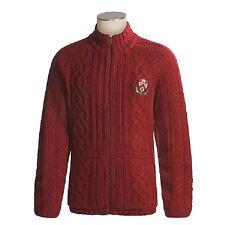 $125 NEW BURTON CLUB CARDIGAN SWEATER APRES SKI JACKET MENS M WOOL BLEND RED