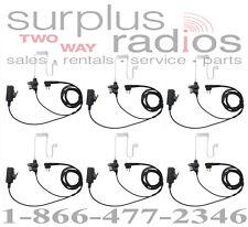 Qty 6 Police Headsets Motorola Cp200 Cp185 Pr400 Dtr410 Dtr550 Dtr650 Cp125