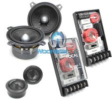 "FOCAL 100A1 SG 4"" 2-WAY COMPONENT SPEAKERS CROSSOVERS TWEETERS NO GRILLS NEW"