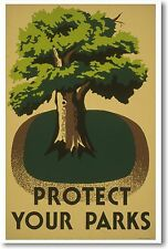 Protect Your Parks - NEW Nature Vintage WPA Print POSTER