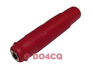 Hirschmann Kupplung / Buchse für 4mm Bananenstecker (4mm Buchse) rot ( I03E )