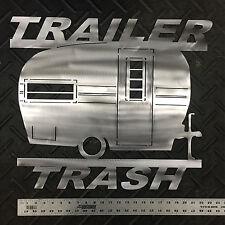 """Vintage Camper """"Trailer Trash"""" Wall Art"""