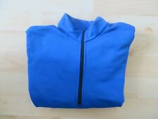 Thermal Blue Long-Sleeved Fleece Cycling Jersey - M