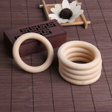 5pcs 70mm Baby Natural Wooden Teething Rings Necklace Bracelet DIY Crafts
