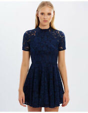 LOVER THE LABEL Oasis Lace Mini Dress Blue AU 10 US 6. FREE POST
