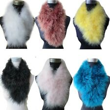 Women Real Ostrich Feather Fur Scarf Winter Warm Soft Shawl 70*14cm 18Colors