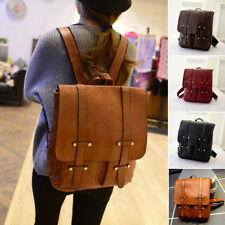 Womens PU Leather Backpack Shoulder Laptop Bag Vintage School Travel Rucksack