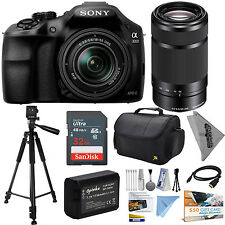 Sony Alpha A3000 cámara DSLR 18-55mm 32GB Kit Accesorios 55-210mm Objetivo,