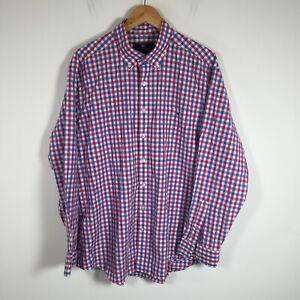 Vineyard Vines mens button up shirt size 2XL gingham check slim fit tucker shirt