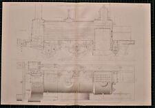 Locomotiva 1855 di stampa Allan'S MOTORE Crewe sezione longitudinale piano Rail Train