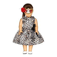 Lovely Leopard Print Dress For 18 Inch Doll Toy Kid Gift Clothing