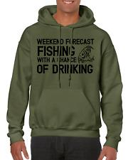 Carp Fishing black/green hoodie custom logo.  WEEKEND FORECAST LOGO..size SMALL