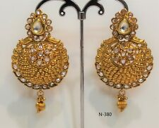 Indian bollywood style Latest Design Jumka Jumki Earring Women Fashion kundan