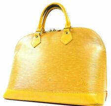 Louis Vuitton Epi Alma Evening Hand Bag Handbag Yellow M52149 Auth