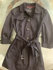 NWOT Belted Banana Republic Black Single Breast Trench Coat Size Small $169