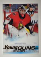 2019-20 Series 2 Clear Cut Young Guns #477 Joey Daccord - Ottawa Senators