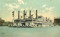 C-1910 Excursion Boats Pittsburg Pennsylvania Postcard 3468
