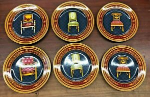 Gucci Dessert Plates with Chairs by Gucci