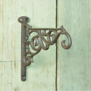 Cast Iron Hanging Basket Bracket in Tudor Style