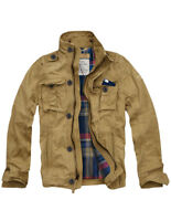 Mens CALI HOLI Flannel Lined Military Cargo Jacket Camel 155021