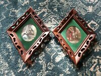 VINTAGE TURNER WALL ACCESSORY PLAQUES HANGINGS ROMANTIC DIAMOND SHAPED VICTORIAN