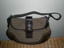 Coach Brown  Jacquard Leather Classic Satchel Handbag Purse  F0749 F10926