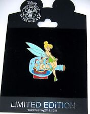 RARE LE 250 Disney Pin✿Tink Tinker Bell Nautical Series Pirate Ship Bottle POTC