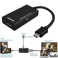Practical Mini Micro USB 2.0 MHL To HDMI Converter Adapter Cable HD 1080P HDMI